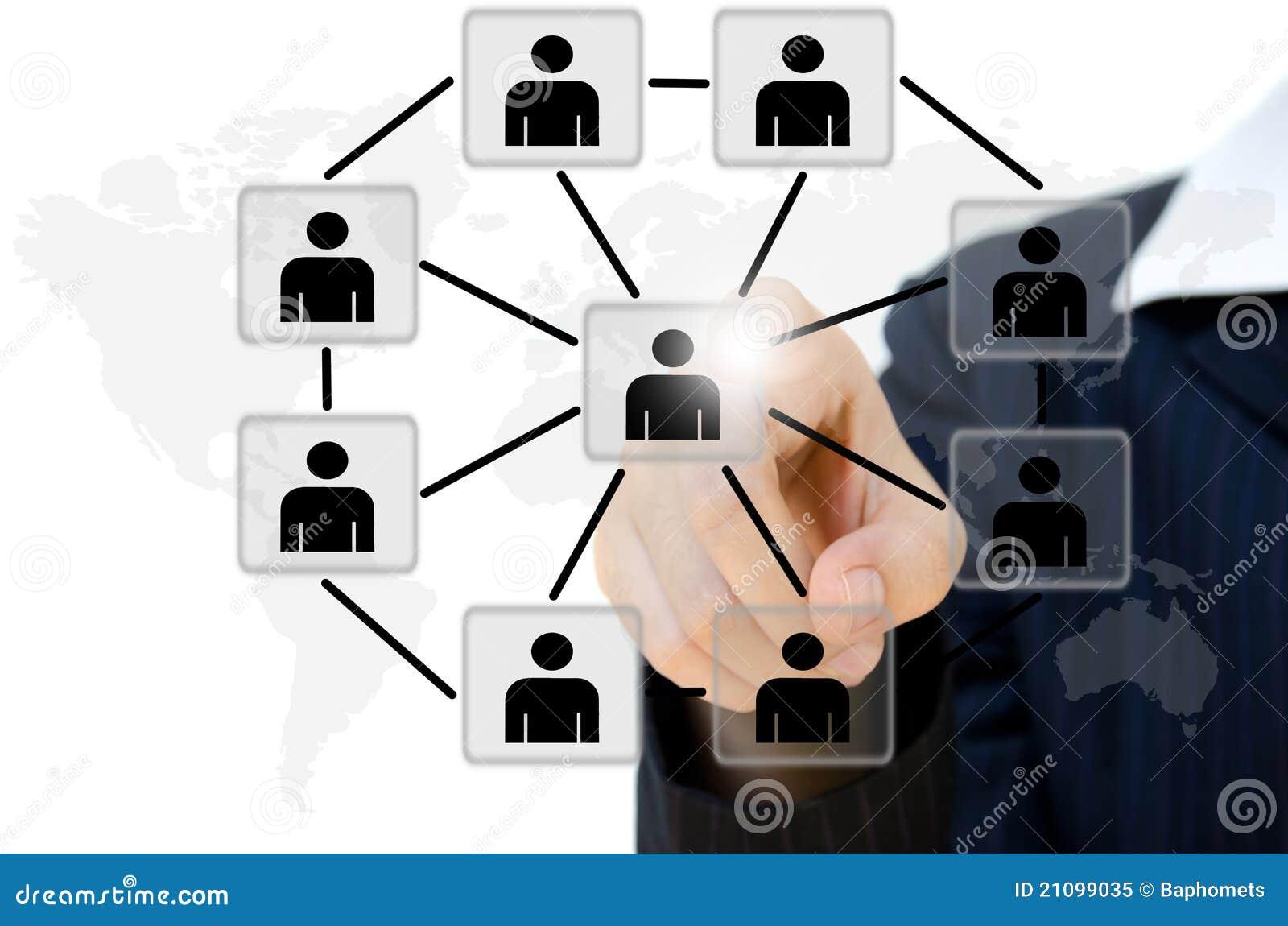Jong duwend mensen communicatie sociaal netwerk