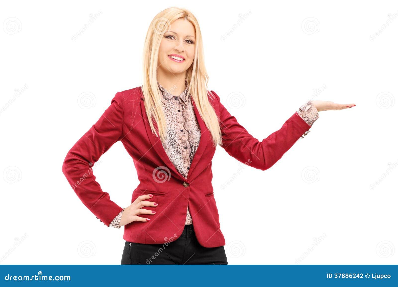 Jong het glimlachen vrouwen gesturing geluk