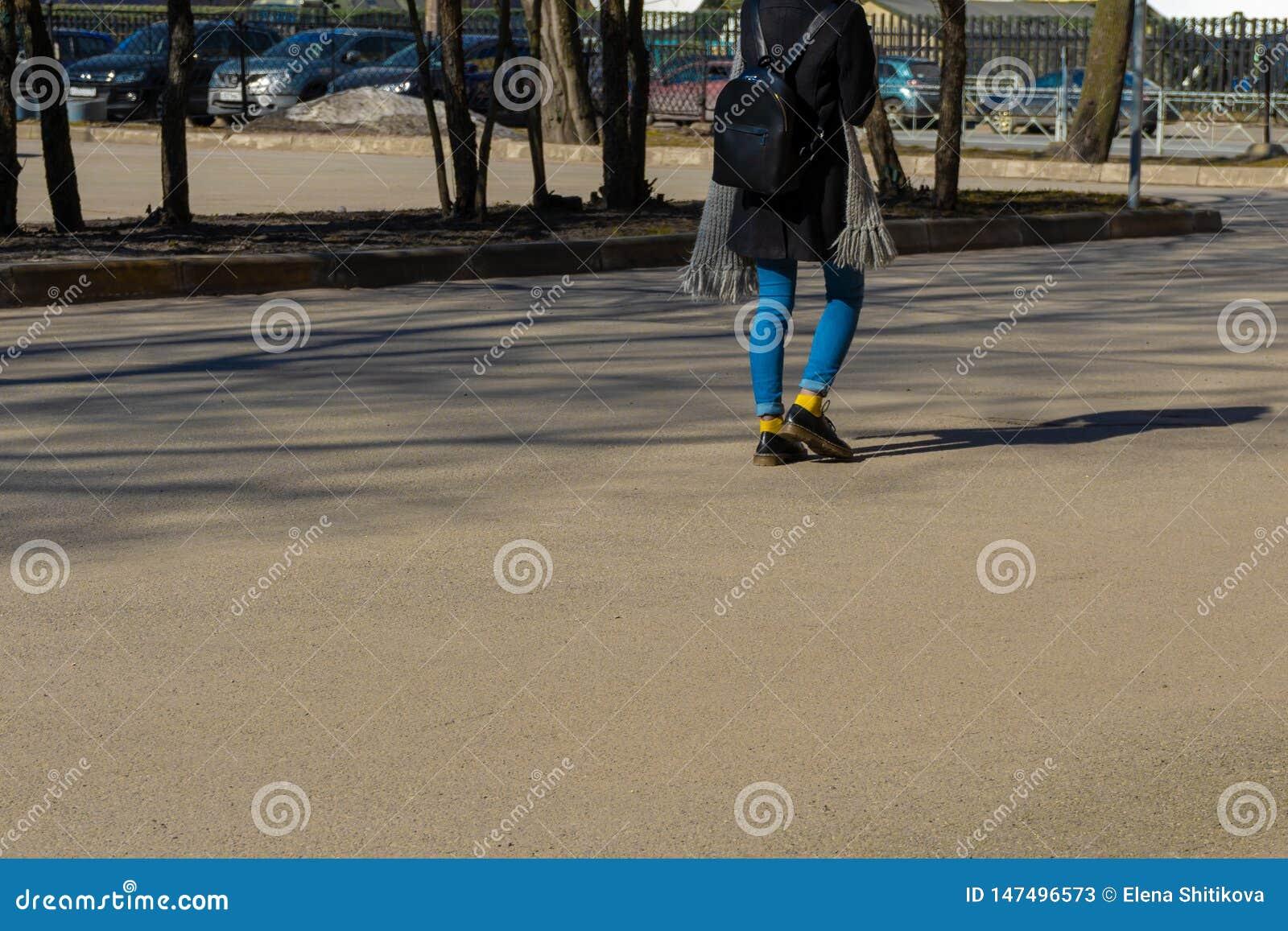 Jong hipstermeisje in de stad