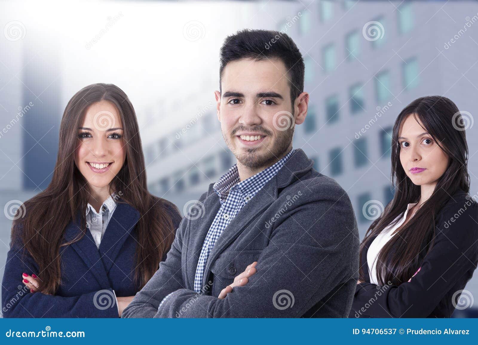 Jong team van zaken