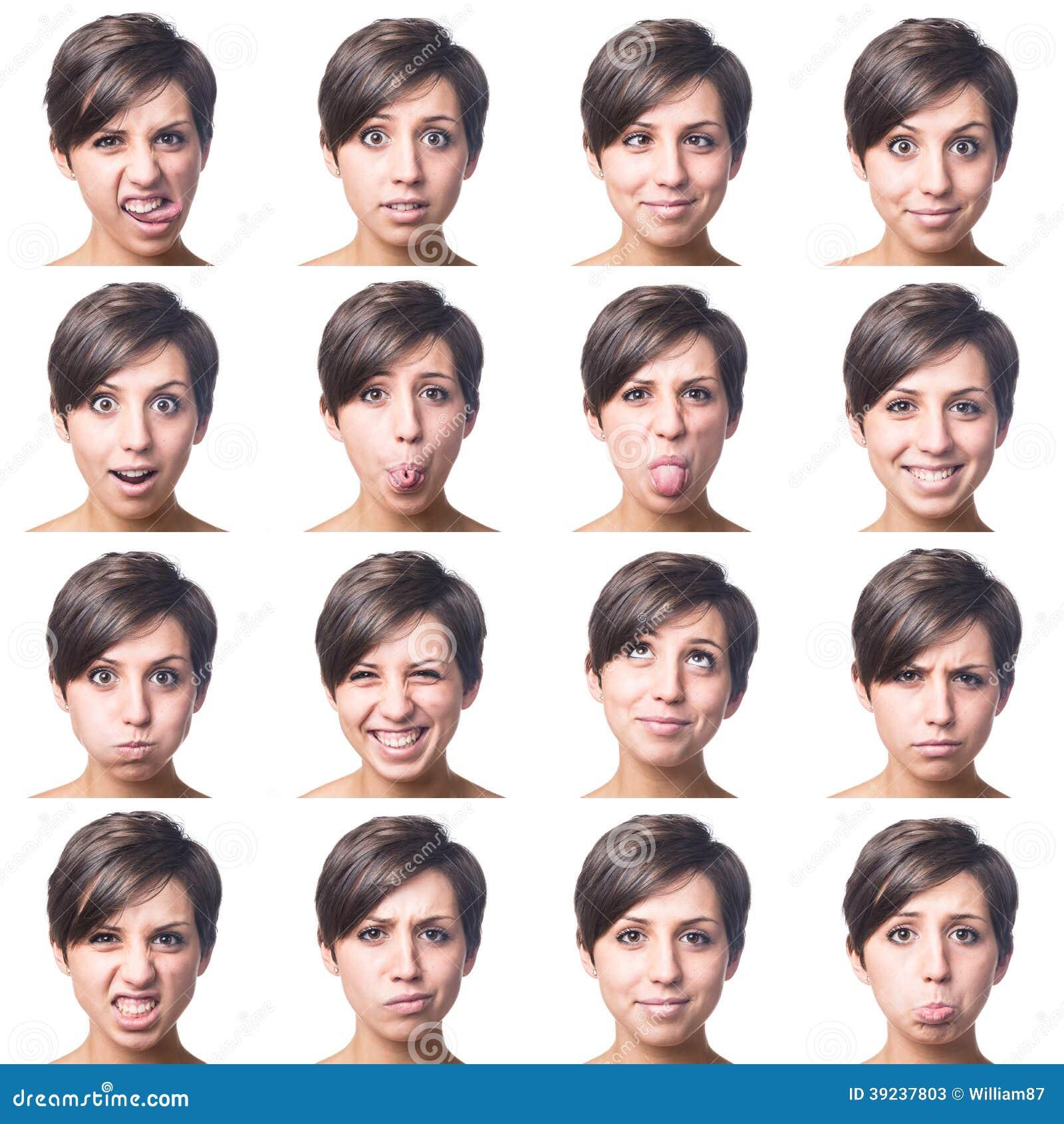 Jong Vrouwen Veelvoudig Portret