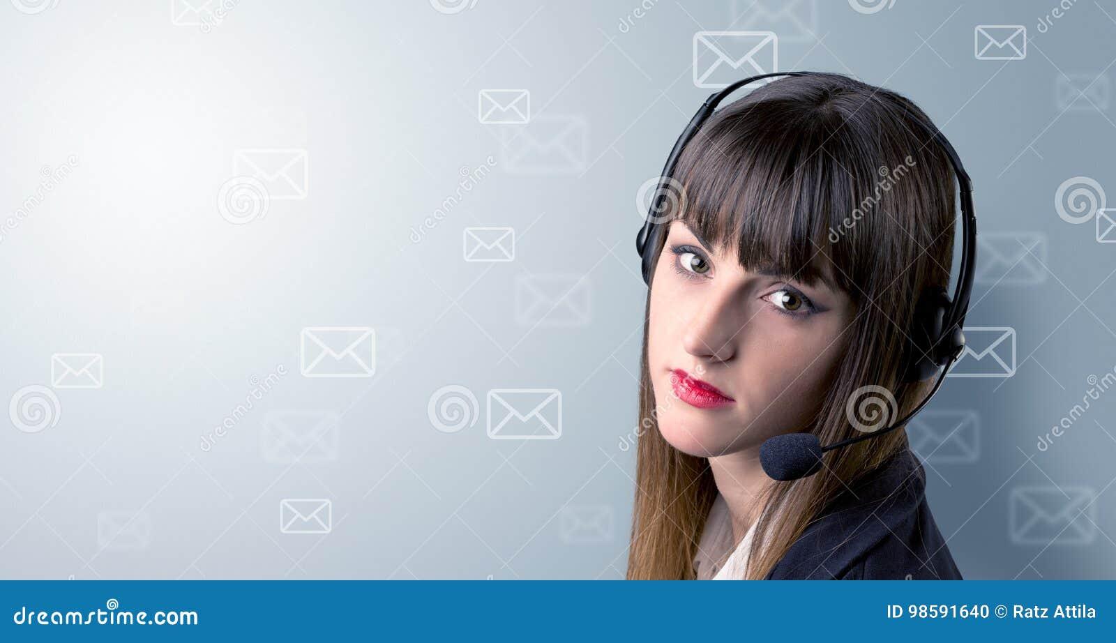 Jong wijfje telemarketer