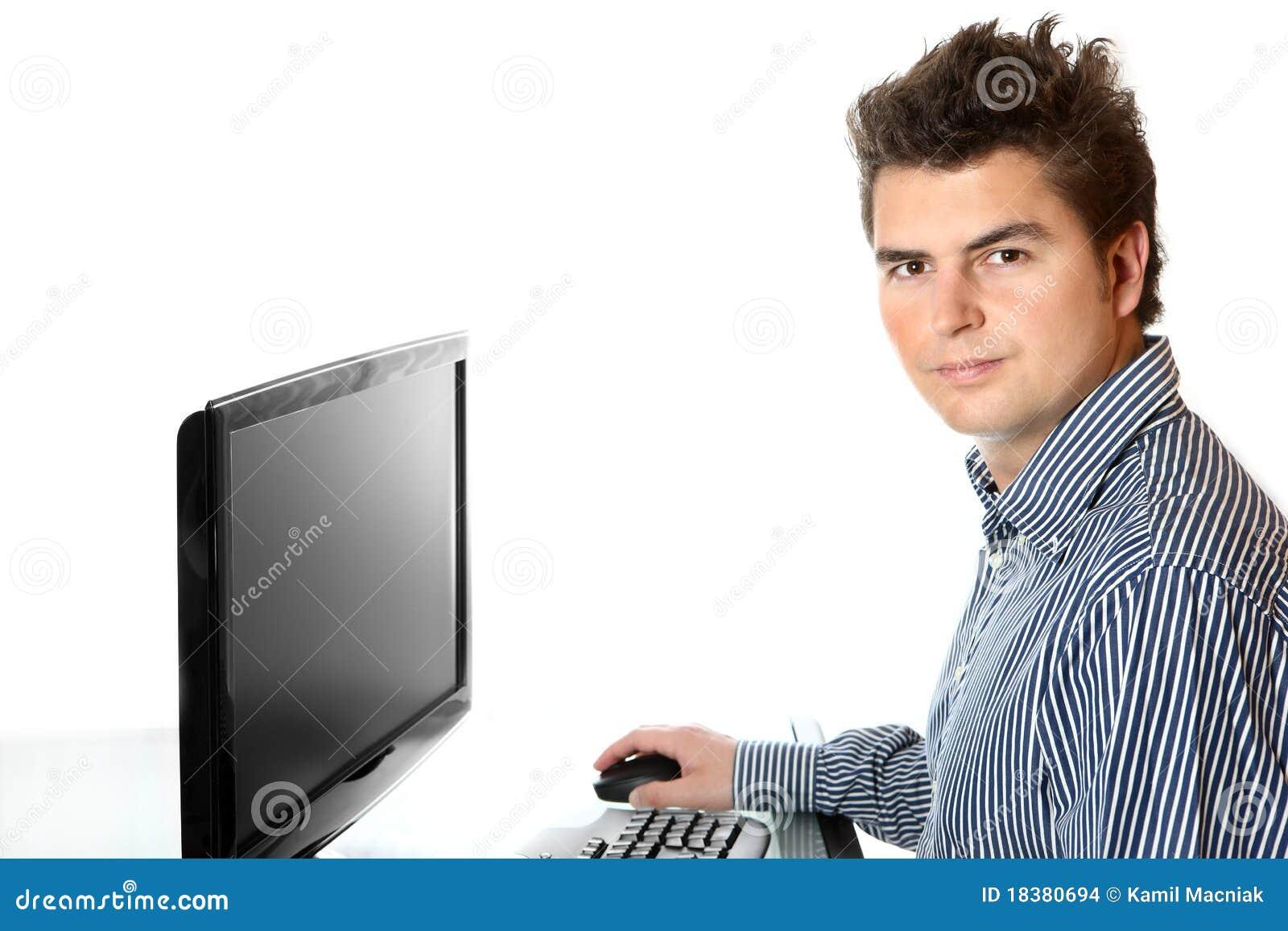 Jonge arbeider in het bureau