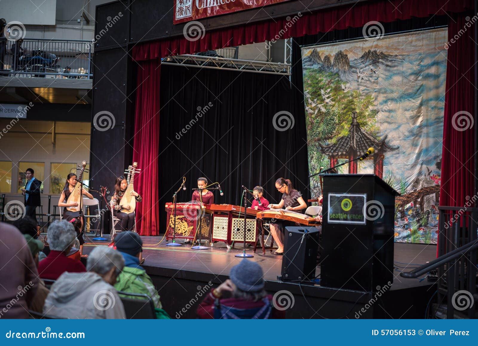 Jonge Chinese kindmusici