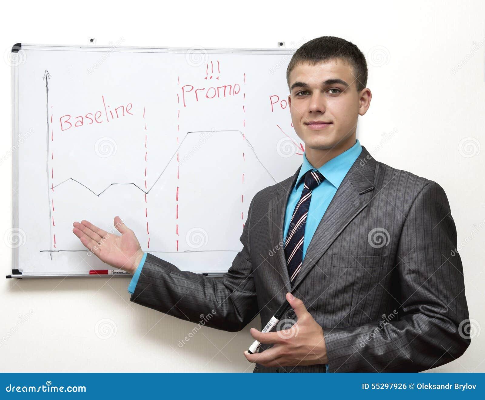 Jonge collectieve manager
