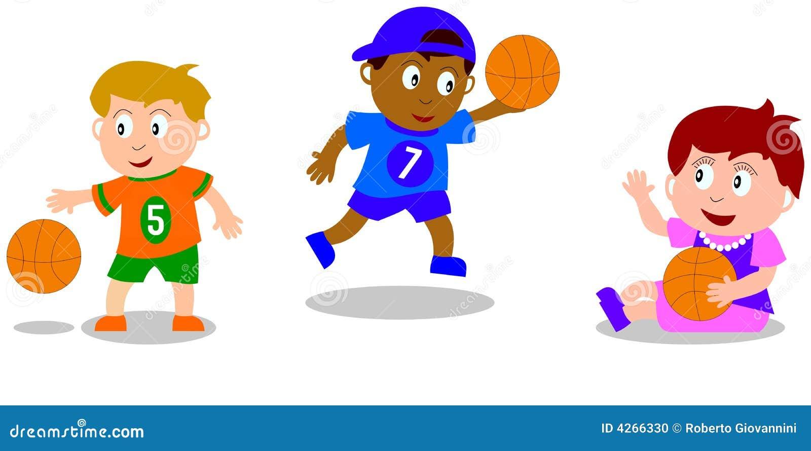 Jonge geitjes die - Basketbal spelen