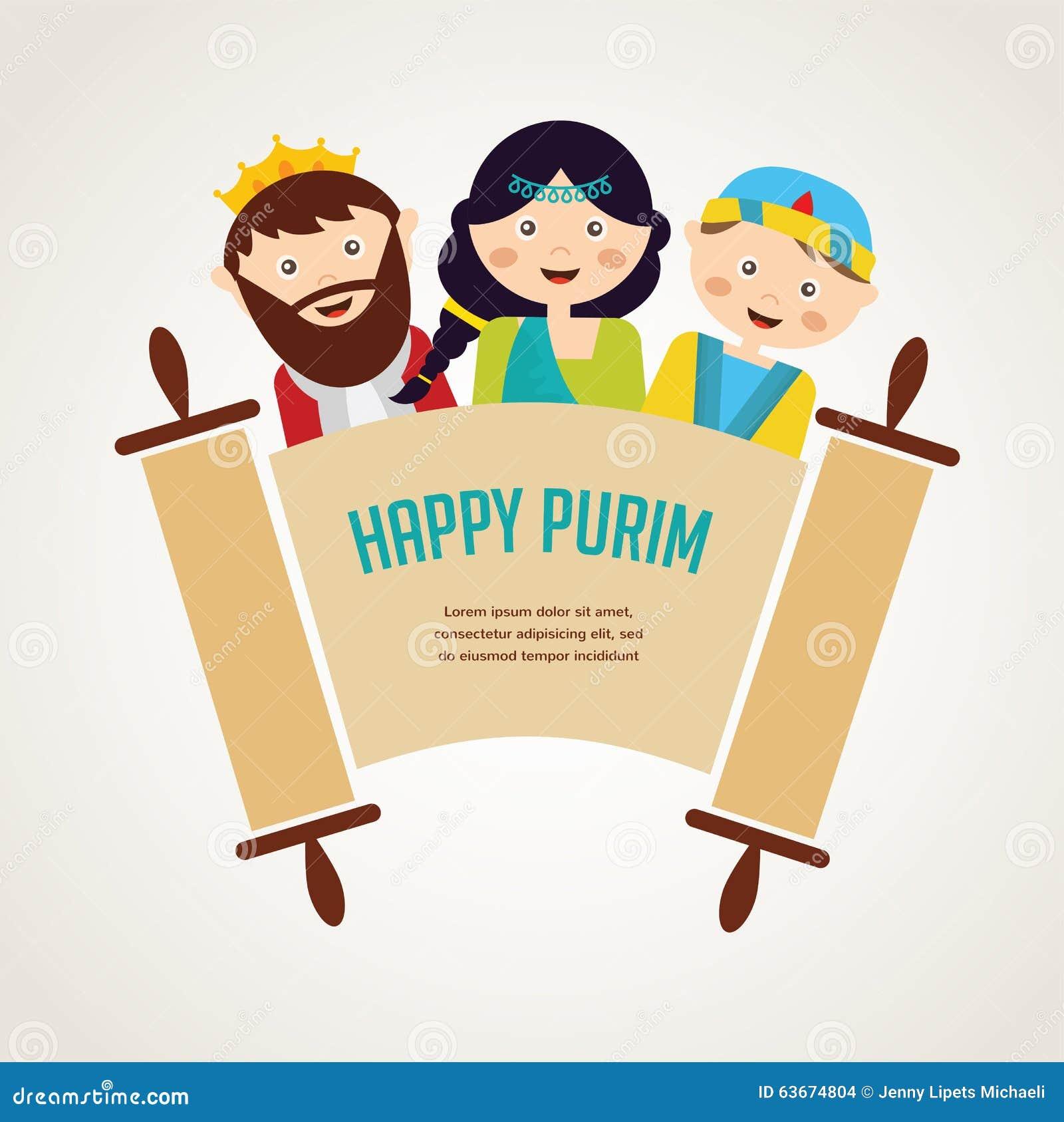 Jonge geitjes die kostuums van Purim-verhaal dragen geschikt