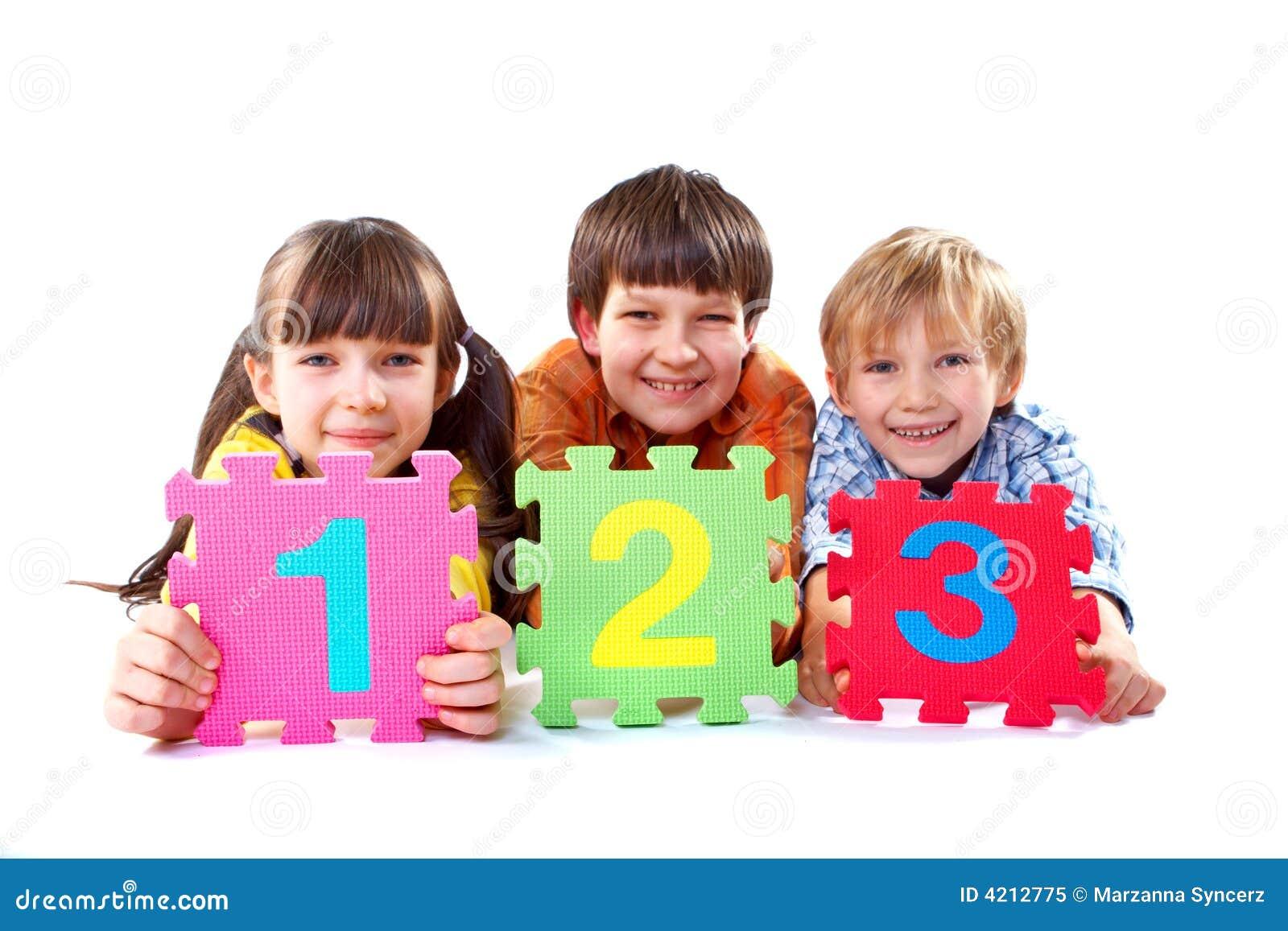 Jonge geitjes met aantallen