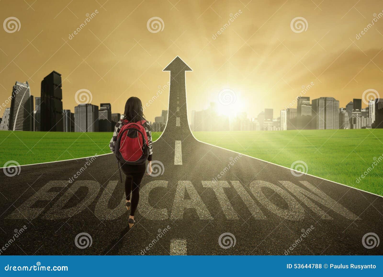 Jonge leerling op de onderwijsroute