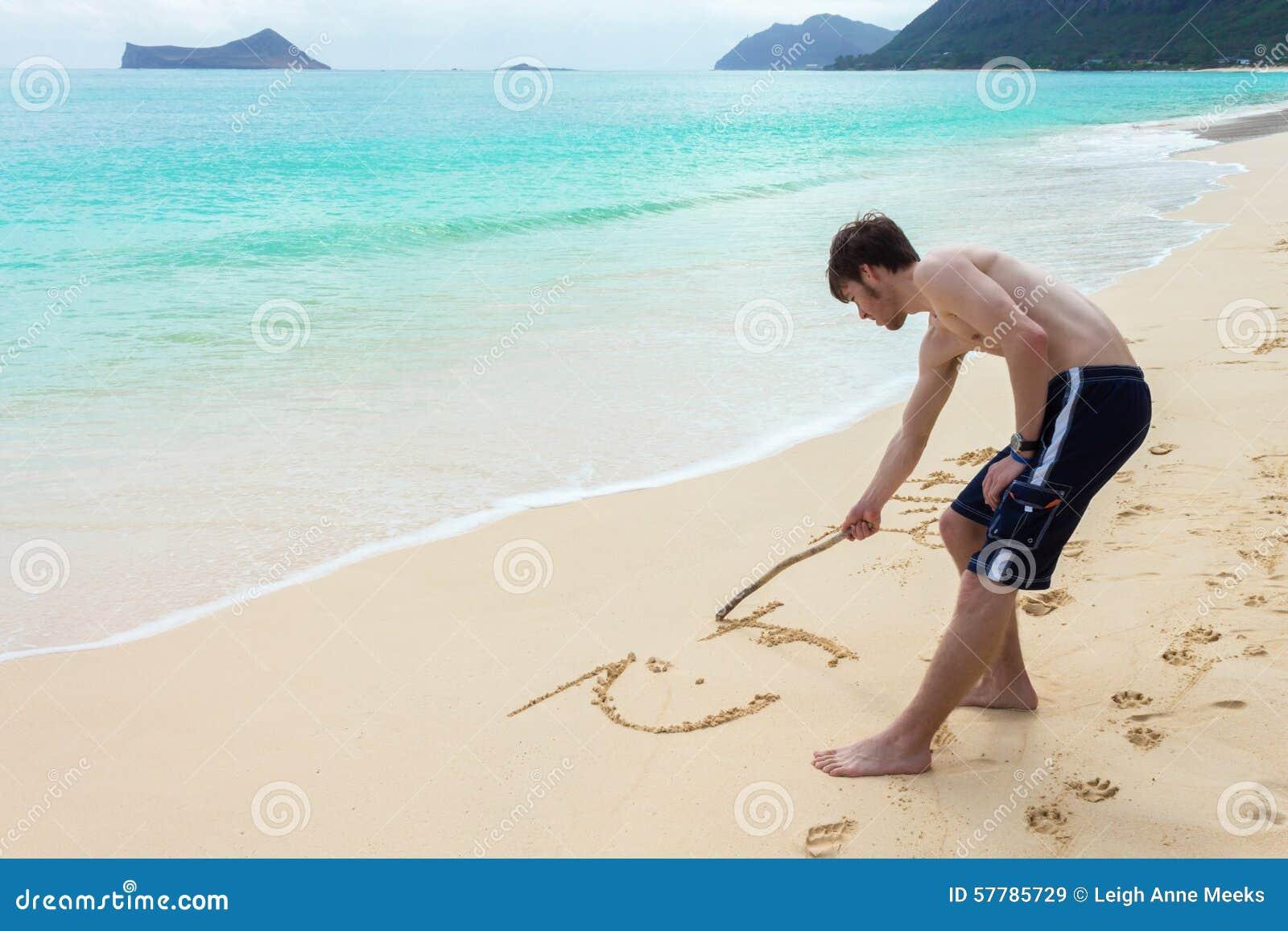 Jonge Mens Sandwriting
