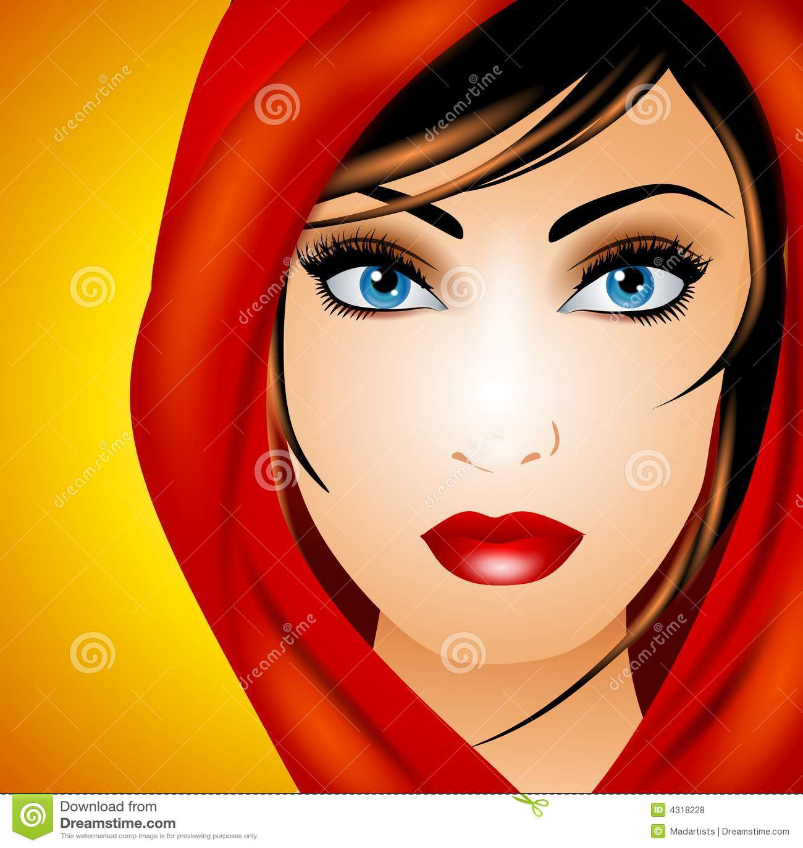Jonge Vrouw in Rode Sjaal