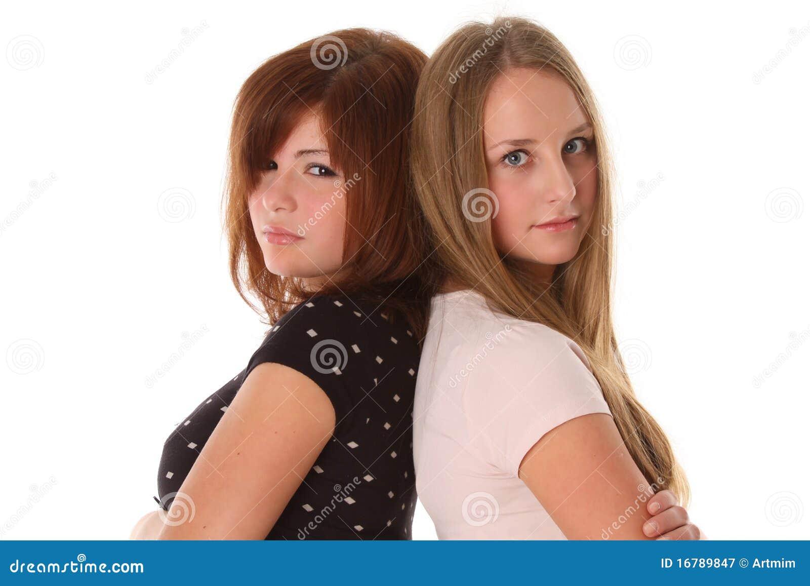 Jonge vrouwenvrienden - mannequin twee