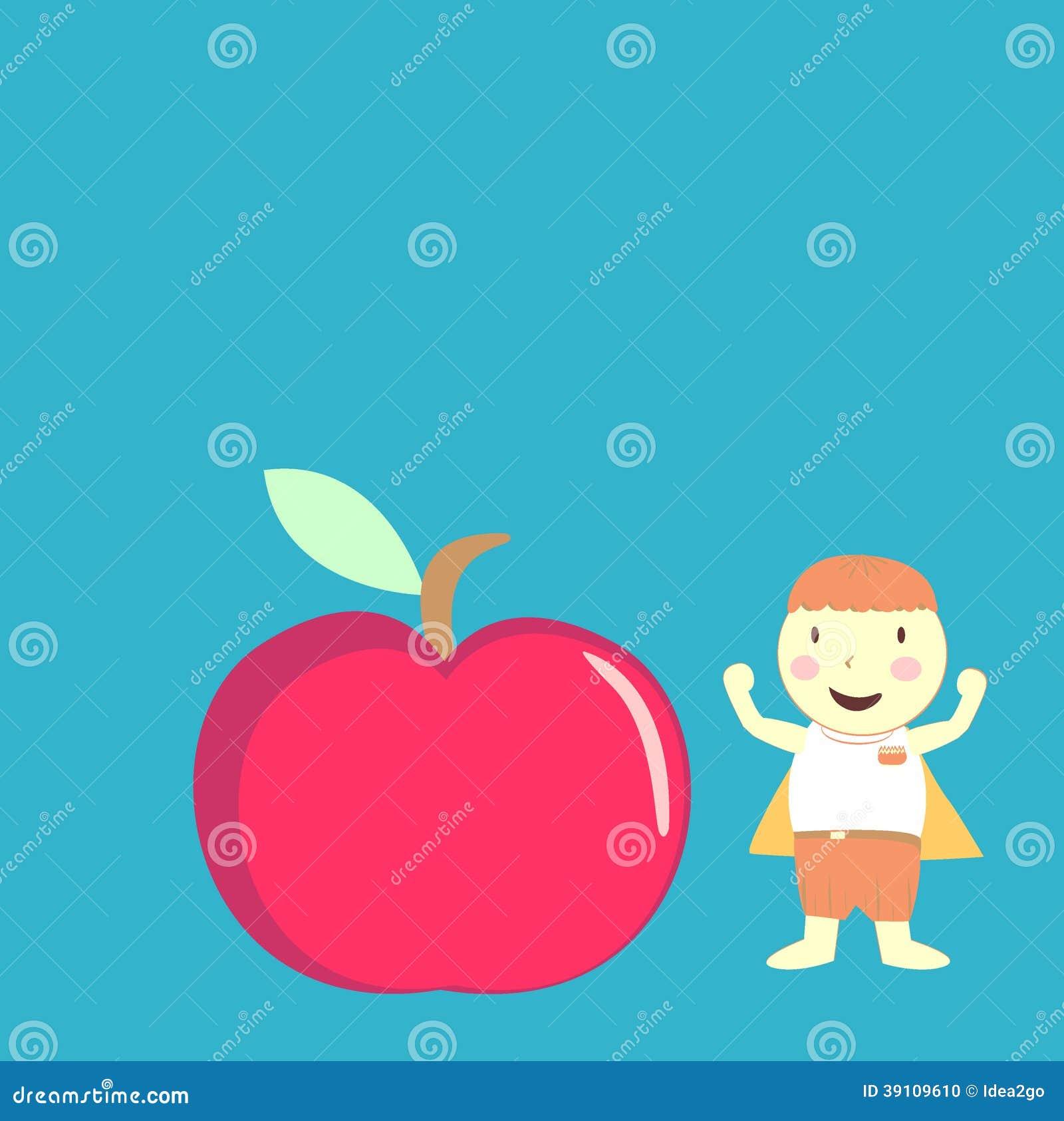 Jongen en appel
