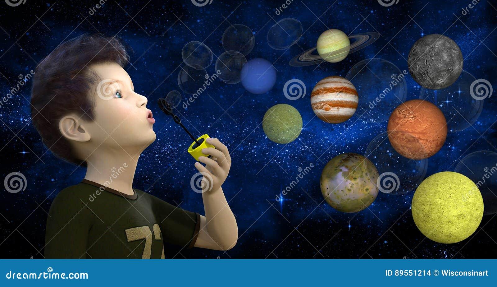 Jongens Blazende Bellen, Planeten, Sterren
