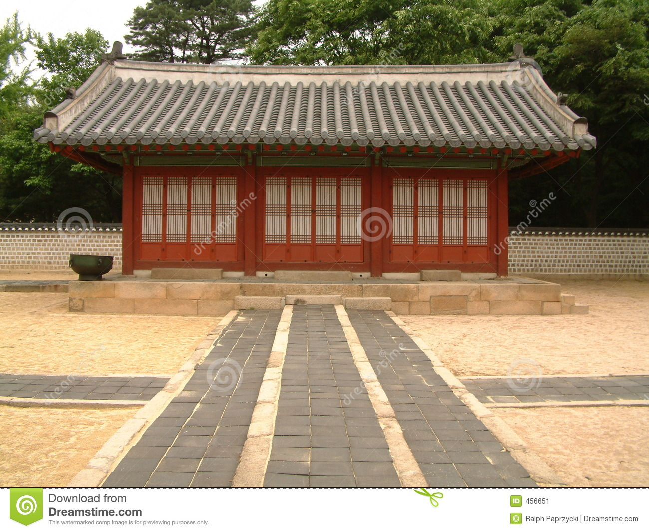 Download Jongmyo (Royal Shrine), Seoul Stock Image - Image of palace, culture: 456651