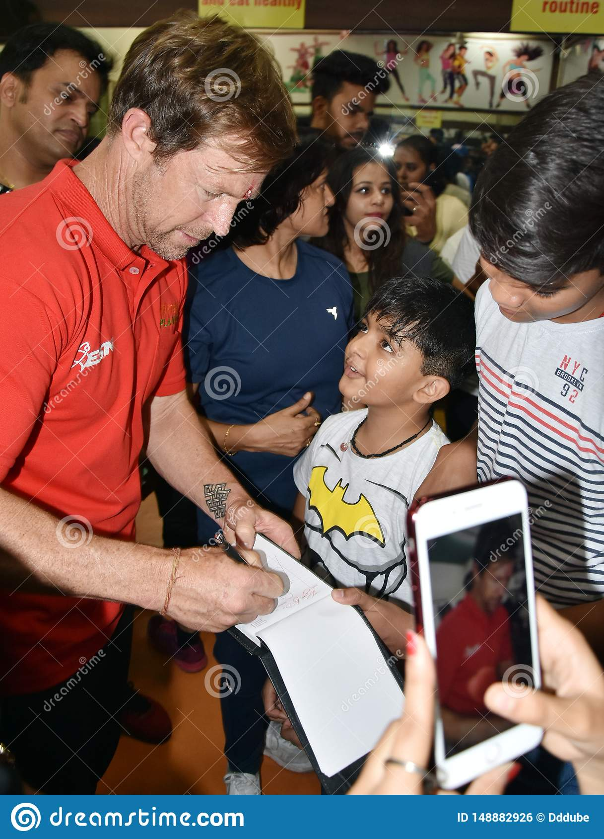 Jonty rhodes visit in Bhopal, India