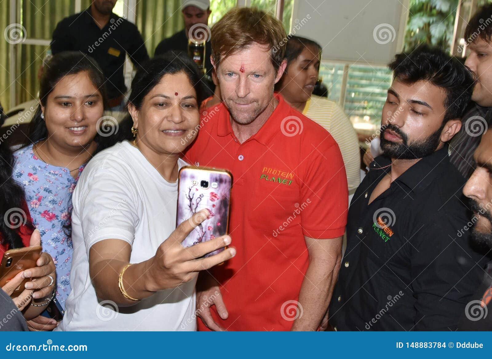 Jonty rhodes visit in Bhopal, India