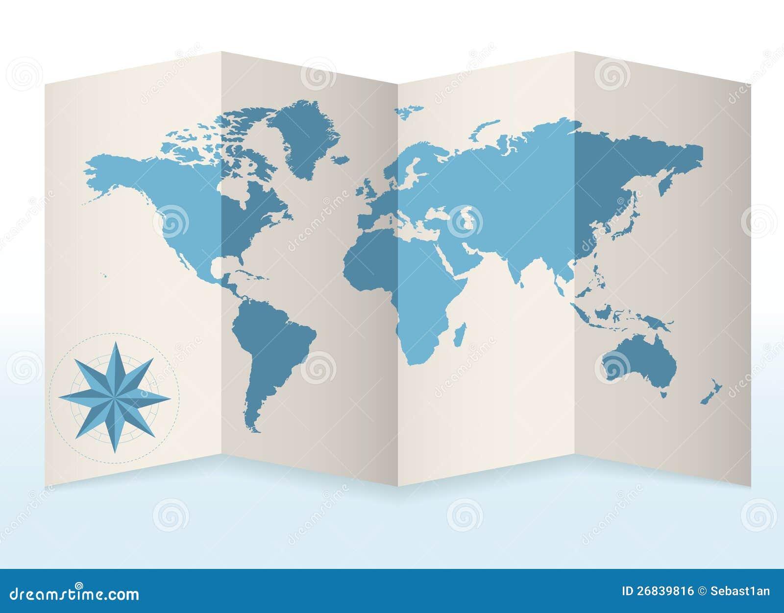 Jordöversikt på papper
