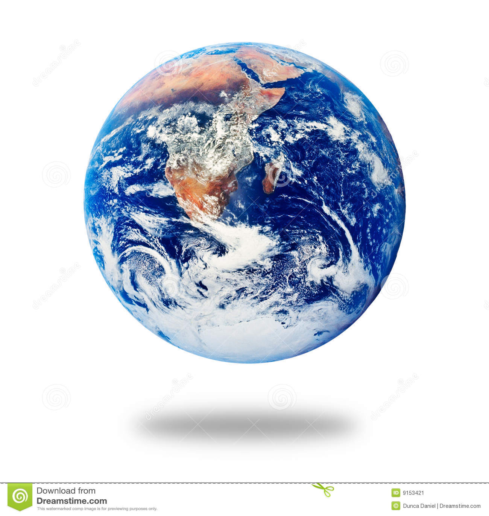 Jord isolerad planetwhite