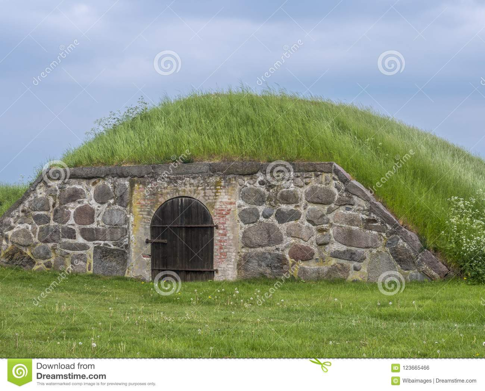 Jorda en kontakt källaren, den Kronborg slotten, Helsingor, Själland, Danmark, Europa