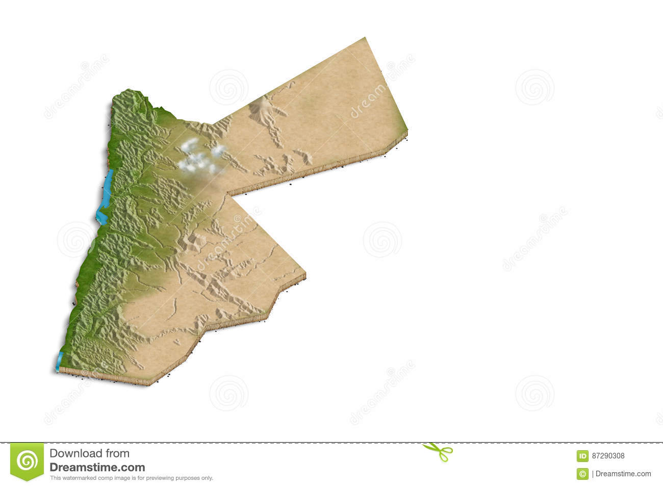Jordan D Map Stock Illustration Image Of Jordan Outline - Jordan map download