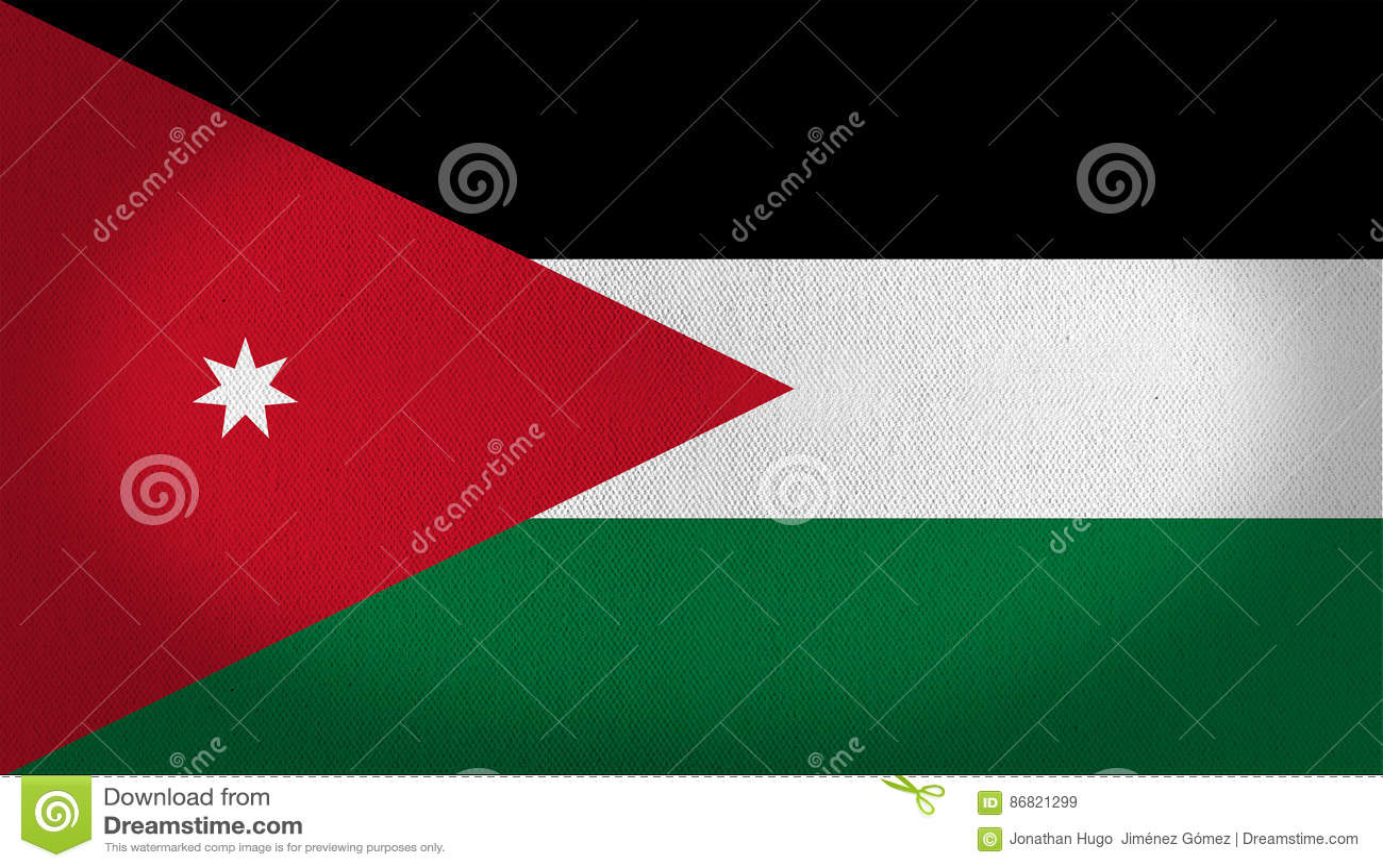 Jordan Flag Stock Illustration Illustration Of Texture 86821299