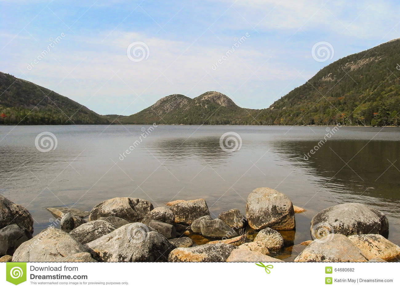 Jordan Pond en parc national d Acadia dans Maine, Etats-Unis