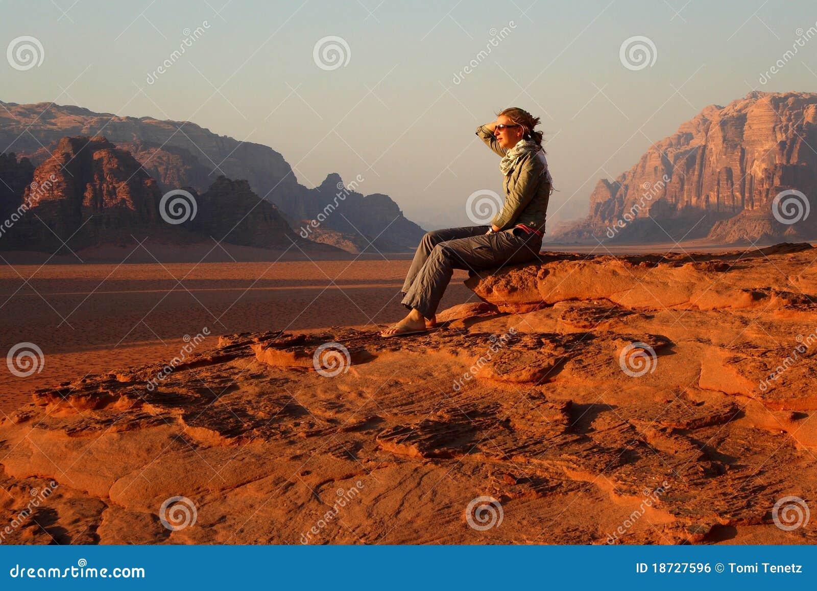 Jordan: Tourist in Wadi Rum