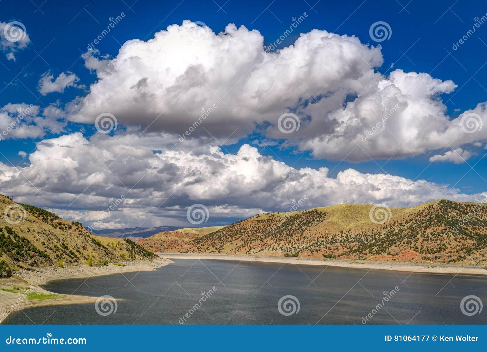 Jordanelle rezerwuar w Utah, Stany Zjednoczone