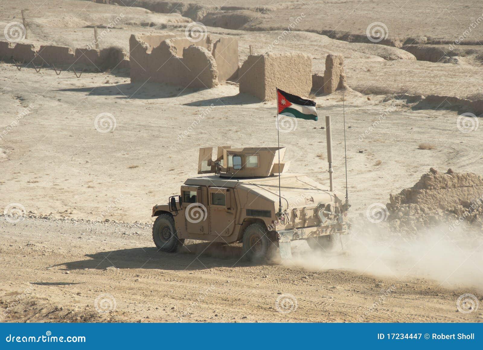 Jordanian Army Hmmwv Royalty Free Stock Photography