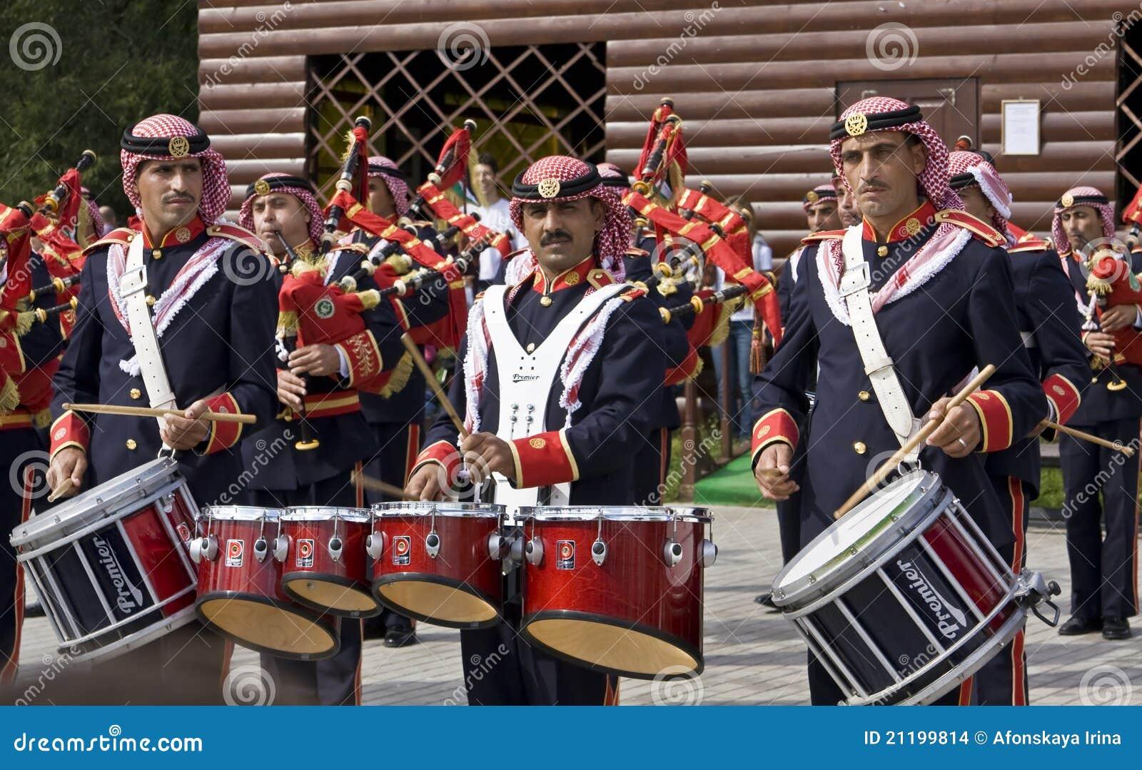 Jordanian military orchestra, festival