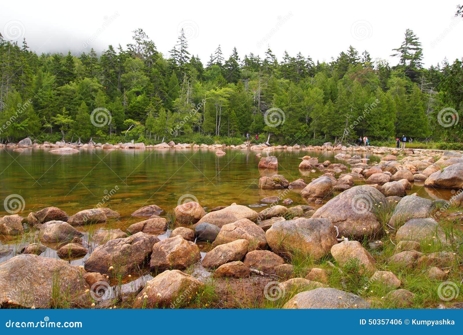 Jordanowski staw przy Acadia parkiem narodowym
