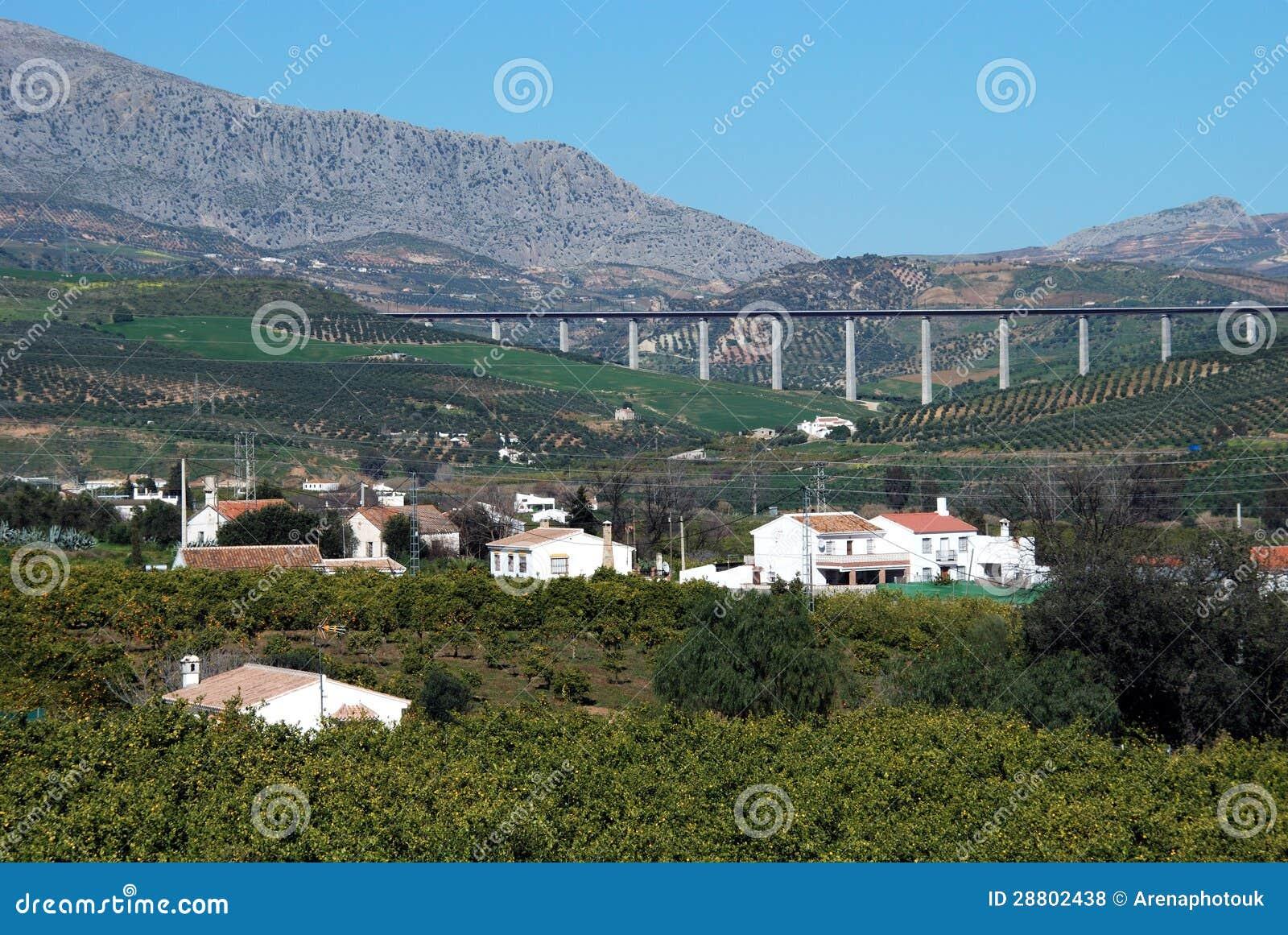 Jordbruks- land, Andalusia, Spanien.