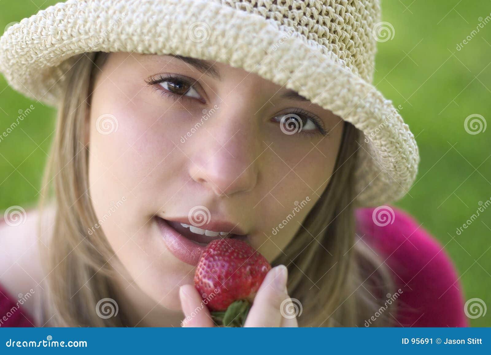 Jordgubbekvinna