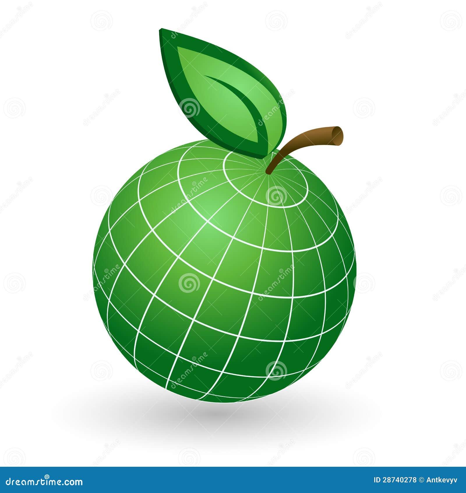 Jordjordklot som det Apple symbolet