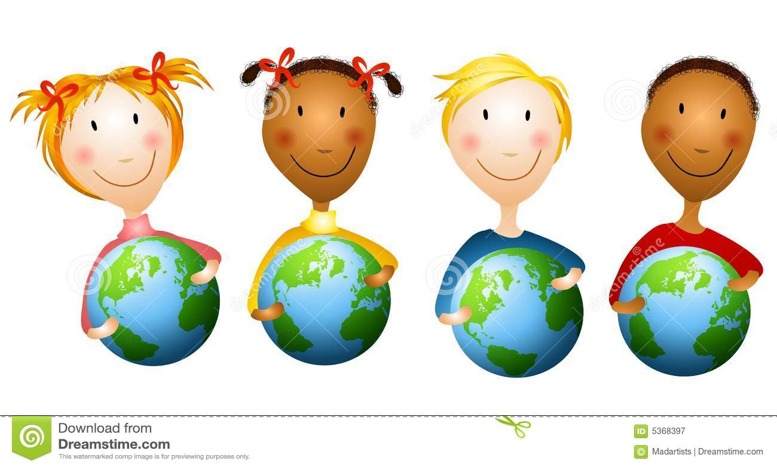 Jordjordklot som rymmer ungar