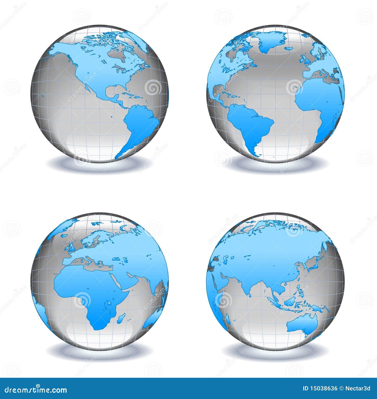 Jordklotvärldar för crystal exponeringsglas