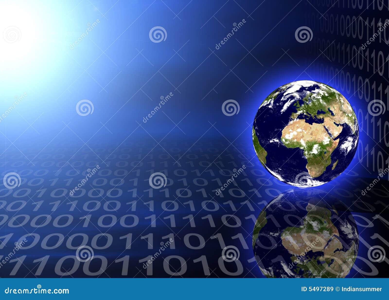 Jordplanet för binär kod