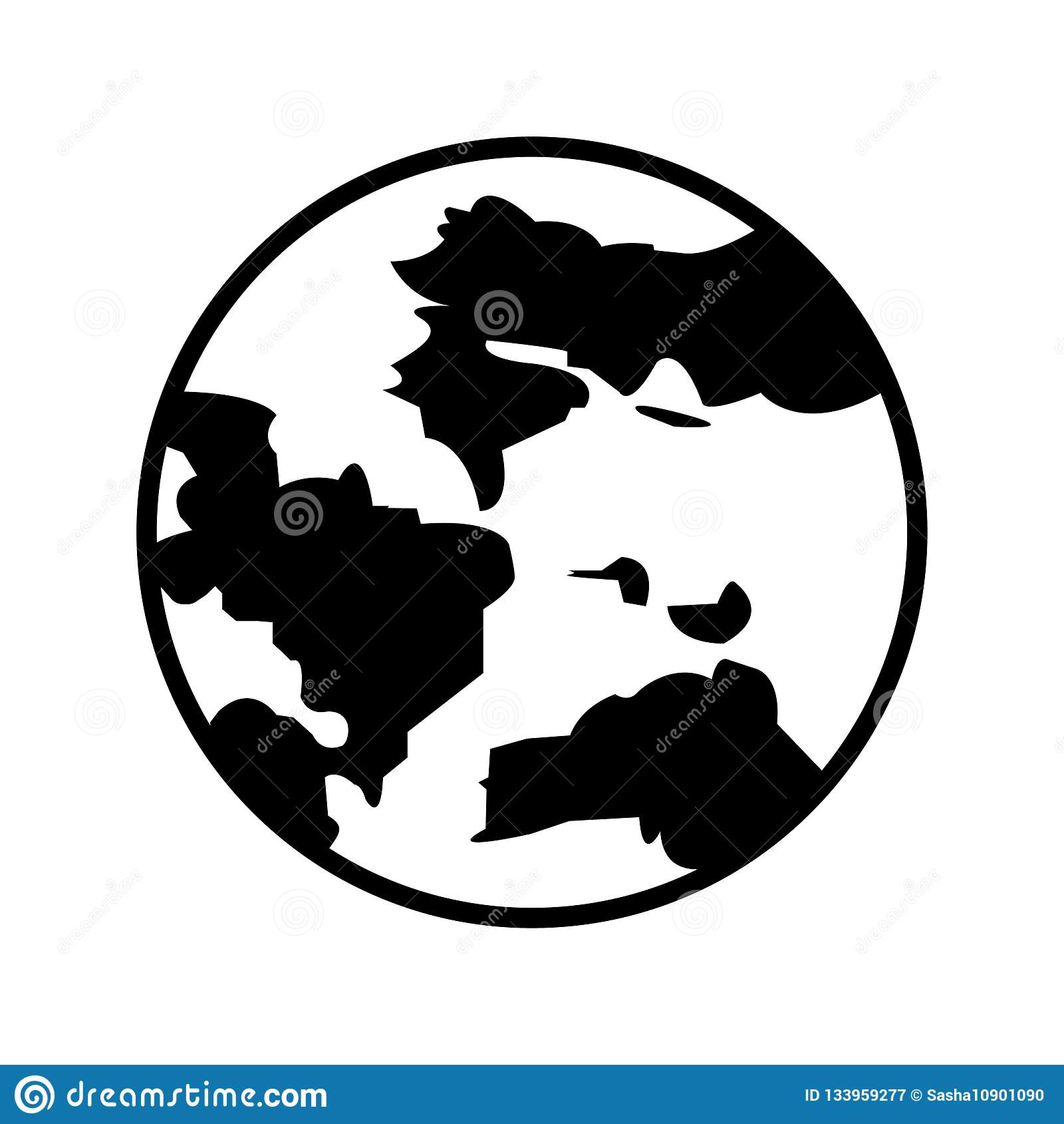 Jordsymbol jorda en kontakt symbolen Jordklot världssymbol Bästa modernt plant pictogramillustrationtecken för rengöringsduk och