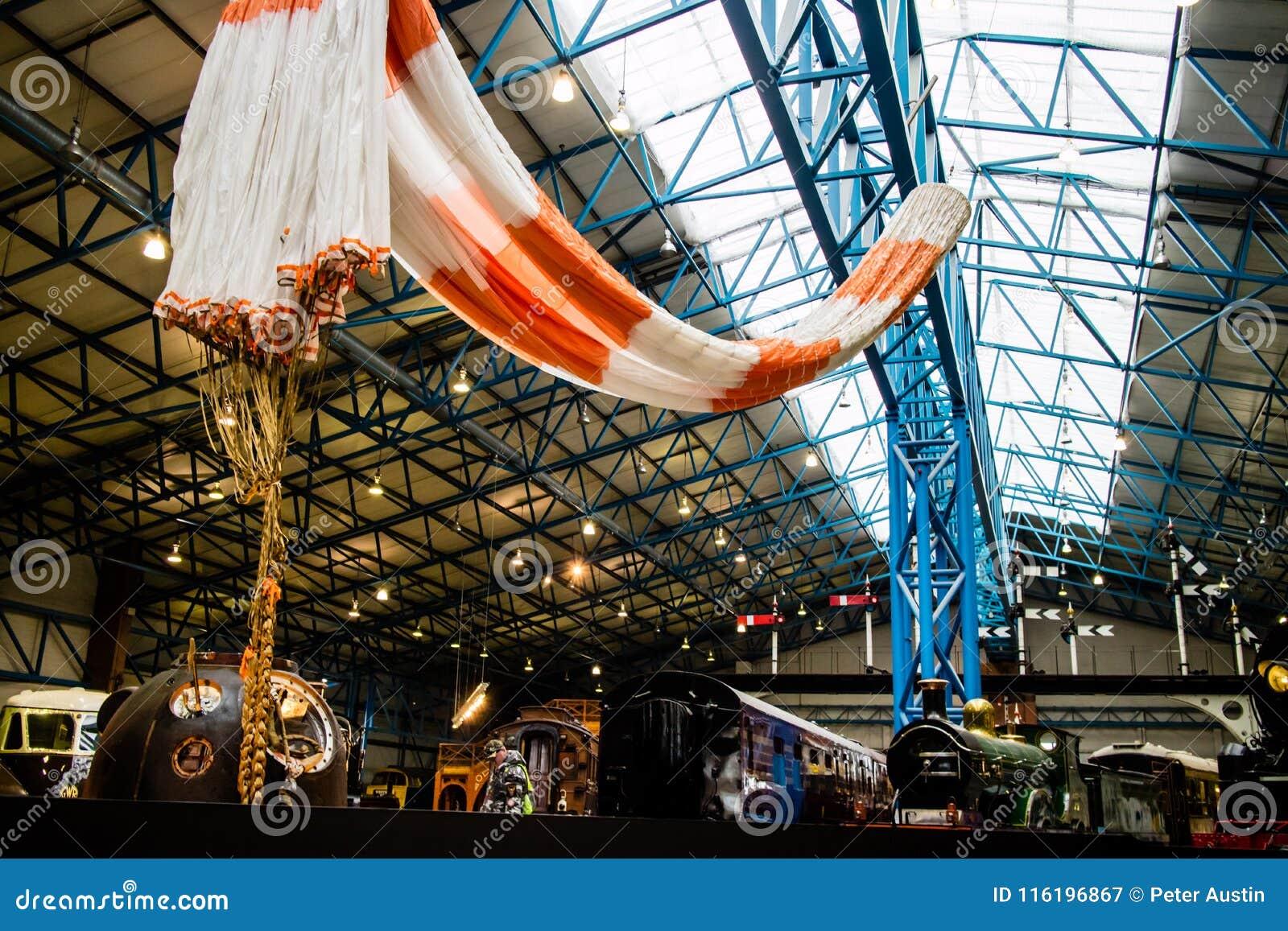 Jork, Zjednoczone Królestwo - 02/08/2018: Tim Peake ` s Soyuz statek kosmiczny