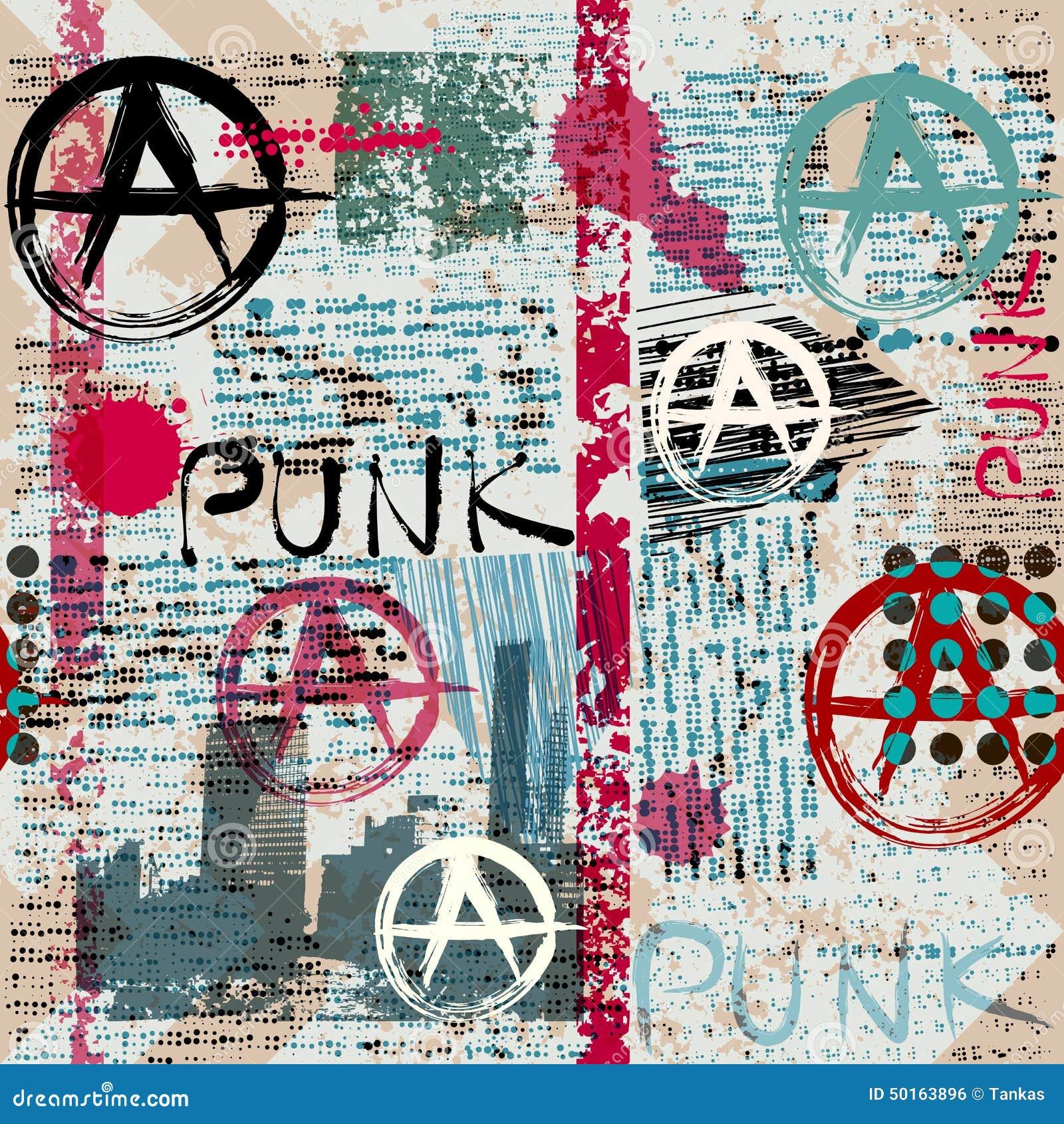 Jornal do Grunge com punk da palavra