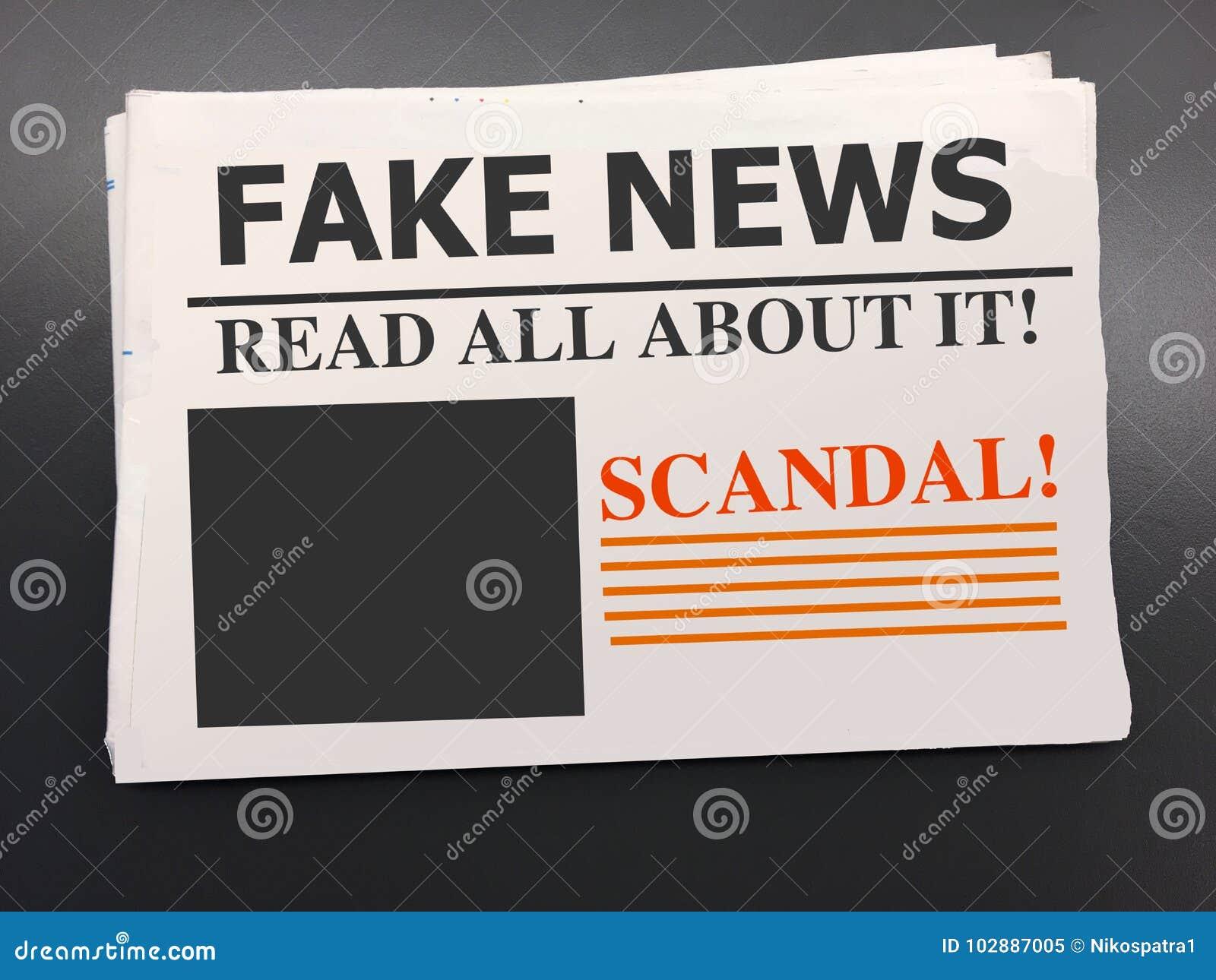 Jornal falsificado da notícia