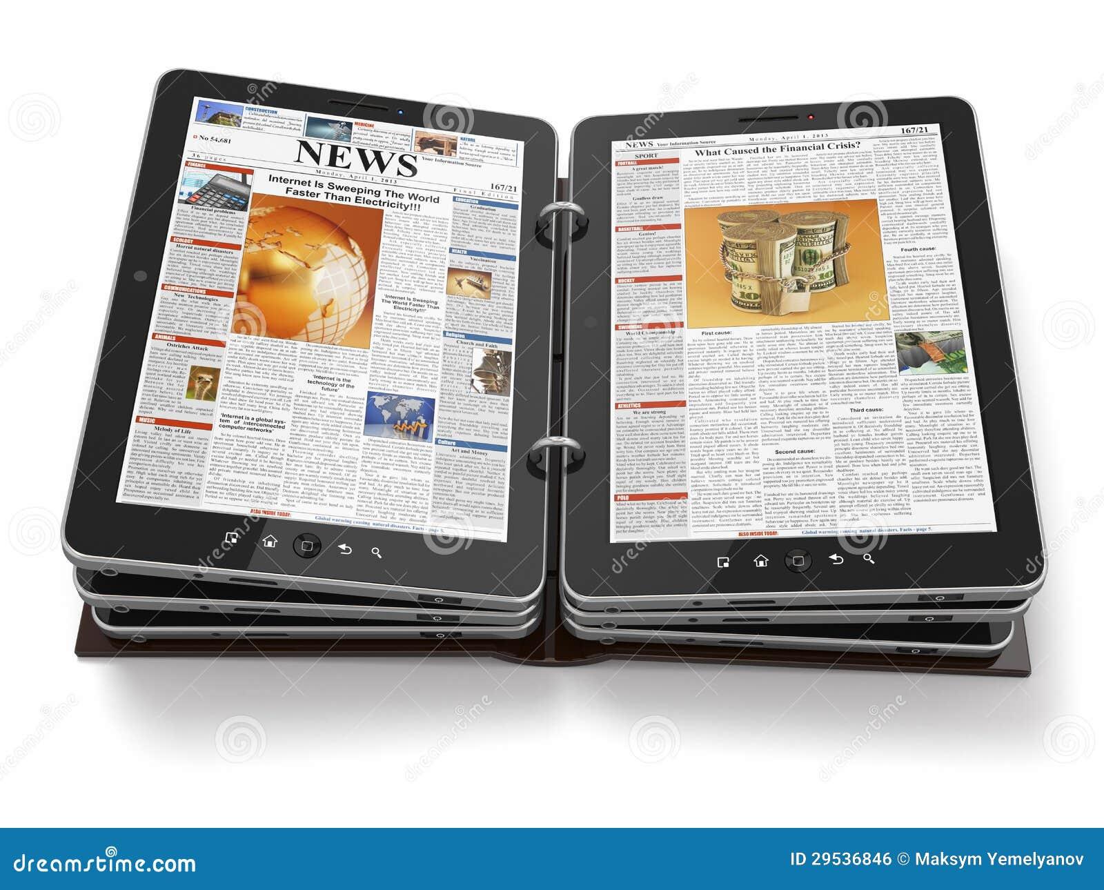 Jornal ou compartimento do PC da tabuleta.
