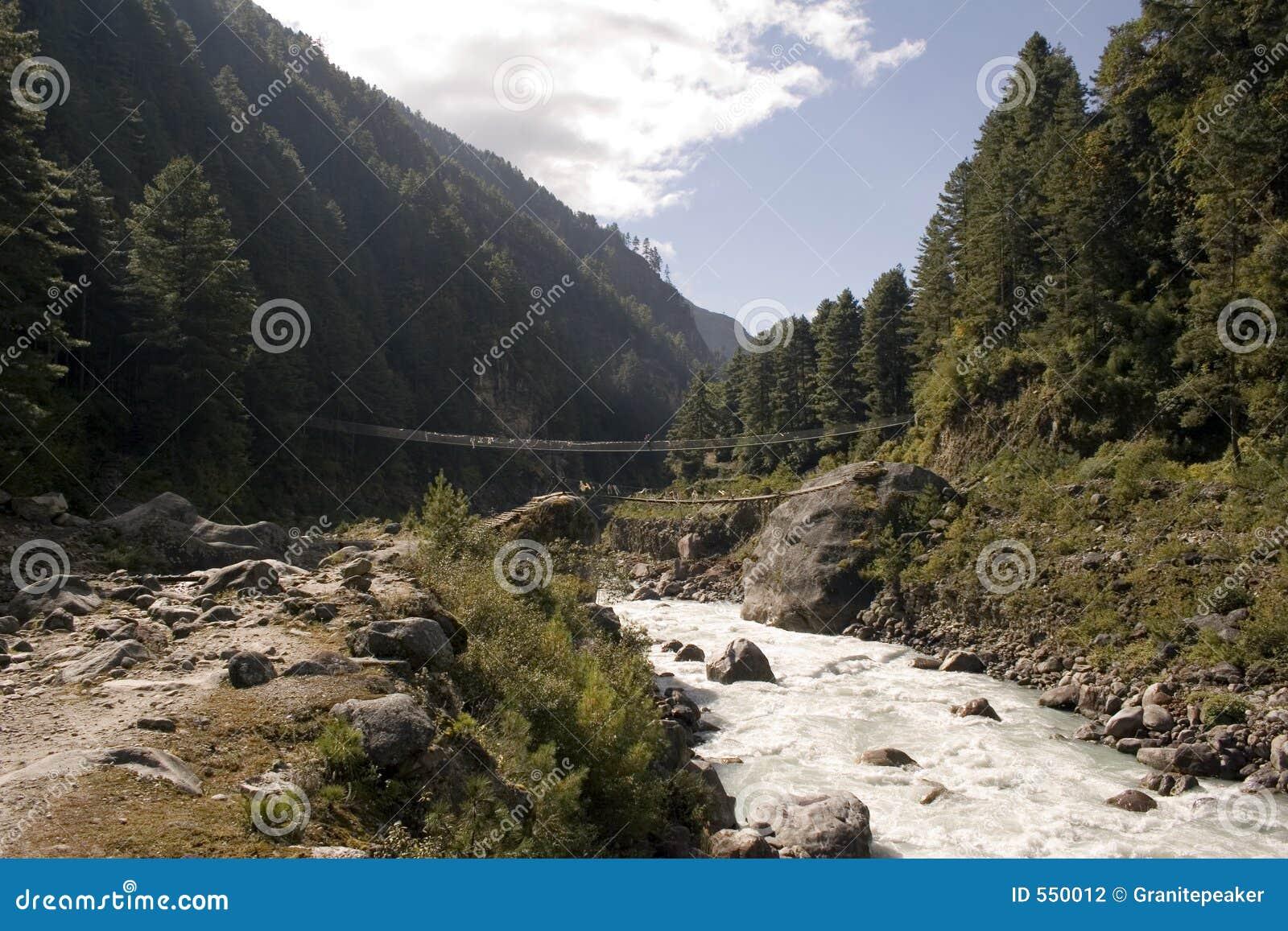 Jorsale Aufhebung-Brücke - Nepal