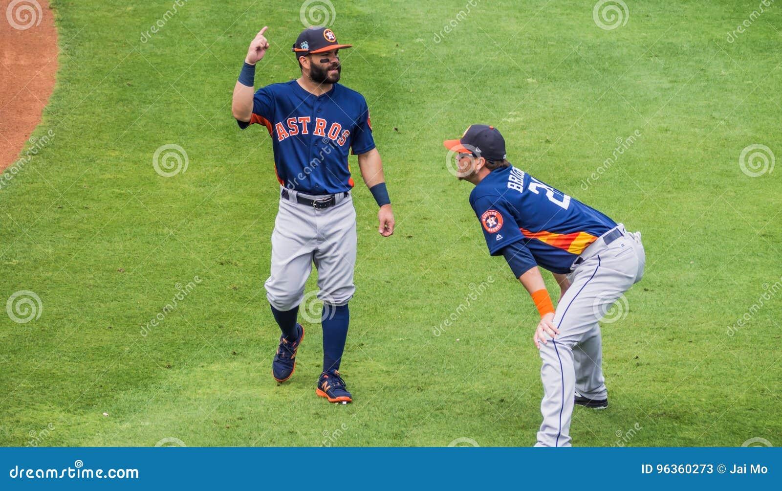 Jose Altuve Reid Brignac Houston Astros 2017