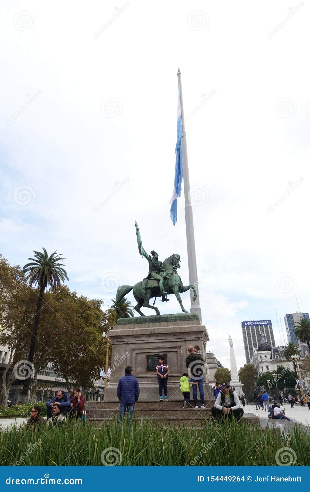 Jose Artigas Mausoleum in im Stadtzentrum gelegenem Montevideo, Uruguay