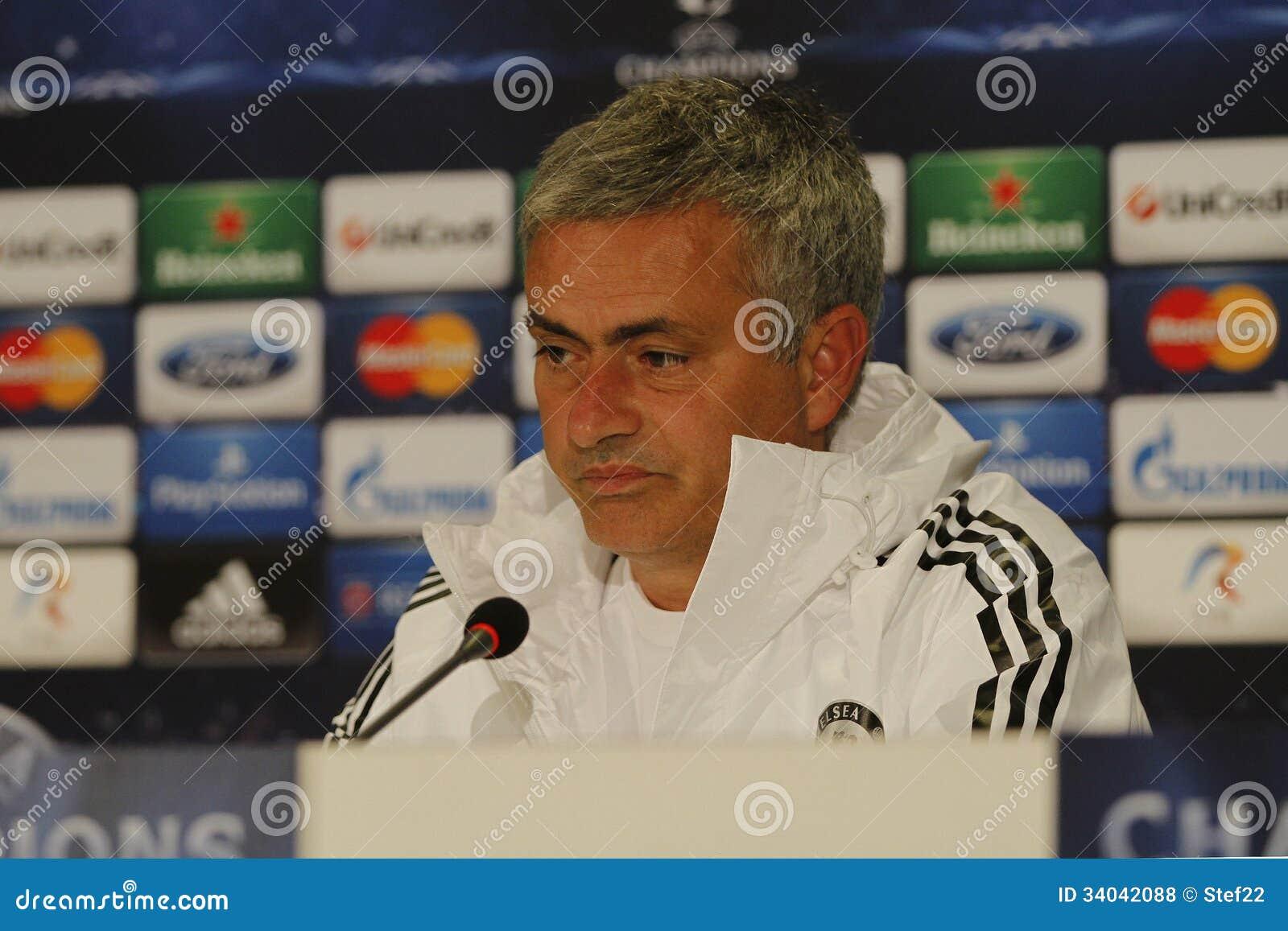 Jose Mourinho av Chelsea - presskonferens
