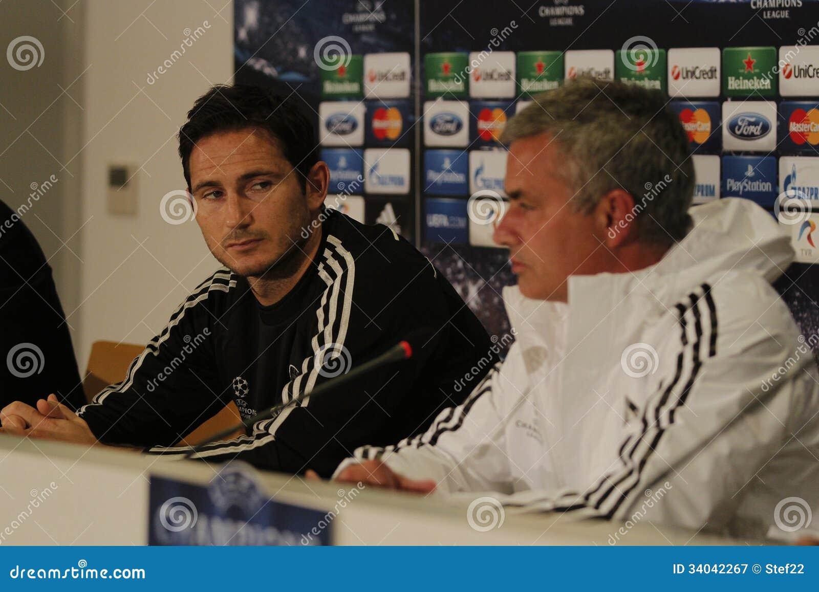 Jose Mourinho and Frank Lampard