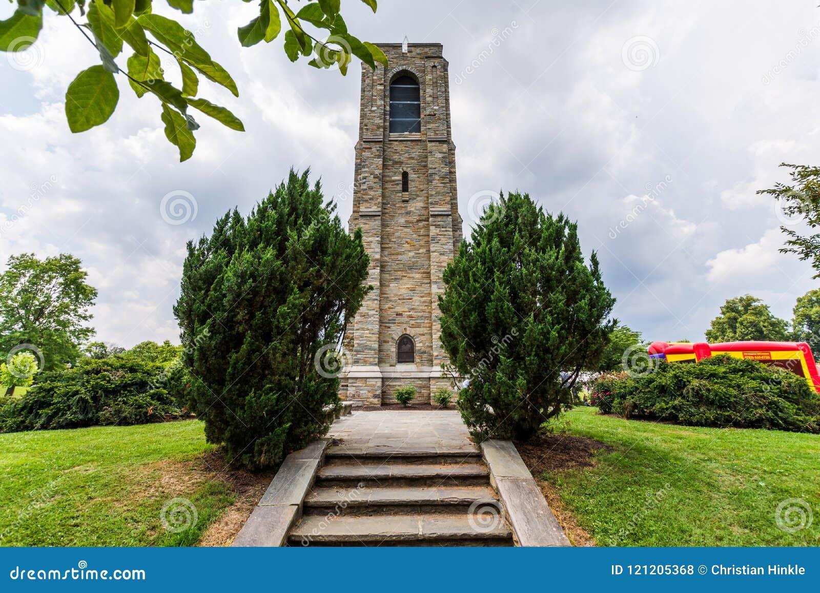 Joseph Dill Baker Memorial Carillon em Frederick Maryla histórico