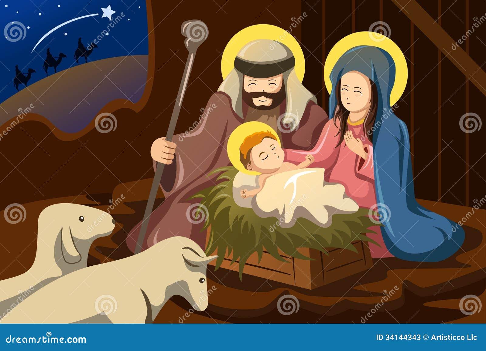 joseph mary and baby jesus stock photos image 34144343